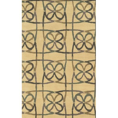 Calais Hand-Tufted Natural Area Rug Rug Size: 5 x 8