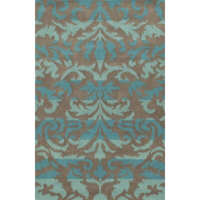 Cleveland Hand-Tufted Blue/Gray Area Rug Rug Size: 5 x 8