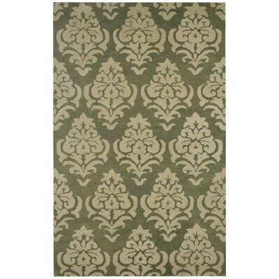 Duluth Hand-Tufted Beige/Green Area Rug Rug Size: Rectangle 3 x 5