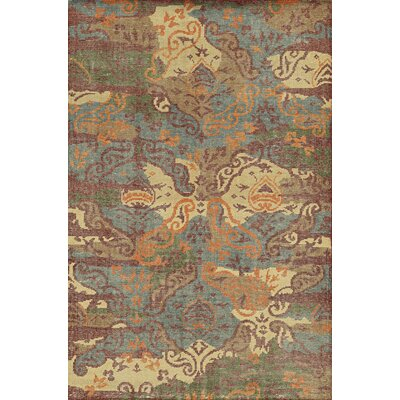 Cardiff Hand-Knotted Area Rug Rug Size: Rectangle 5 x 8