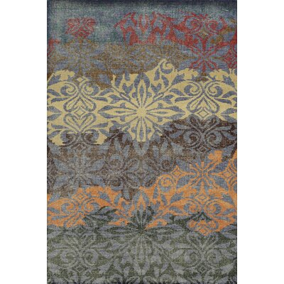 Laoghaire Hand-Knotted Purple Area Rug Rug Size: 3 x 5