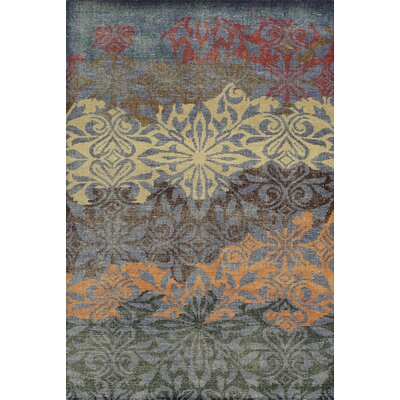 Laoghaire Hand-Knotted Purple Area Rug Rug Size: 9 x 12