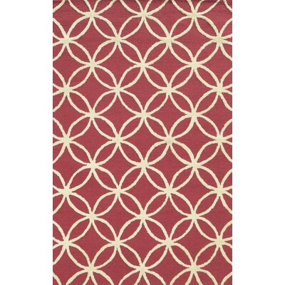 Fleetwood Hand-Tufted Pink Area Rug Rug Size: Rectangle 9 x 12