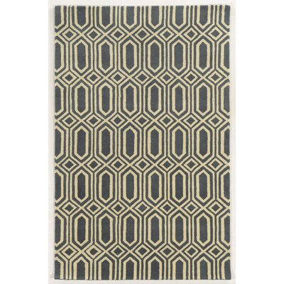 Holyhead Hand-Tufted Grey/Beige Area Rug Rug Size: Rectangle 5 x 8