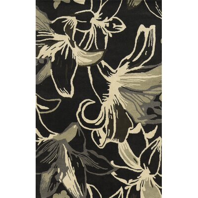 Liverpool Hand-Tufted Black/Brown Area Rug Rug Size: 3' x 5'