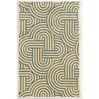 Milford Hand-Tufted Ivory/Gray Area Rug Rug Size: Rectangle 5 x 8