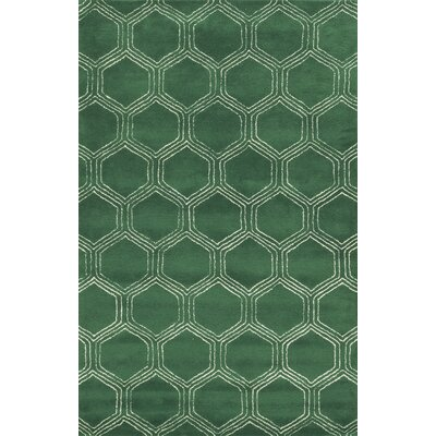 Pembroke Hand-Tufted Green Area Rug Rug Size: Runner 26 x 8