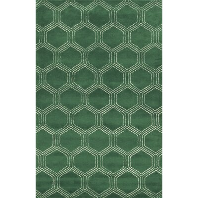 Pembroke Hand-Tufted Green Area Rug Rug Size: Rectangle 8 x 10