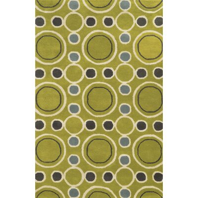 Rosslare Hand-Tufted Gold Area Rug Rug Size: Rectangle 5 x 8