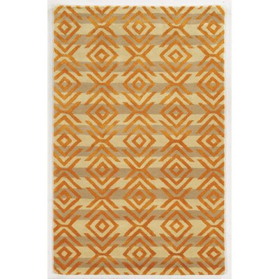 Adana Hand-Tufted Beige/Orange Area Rug Rug Size: Rectangle 2' x 3'