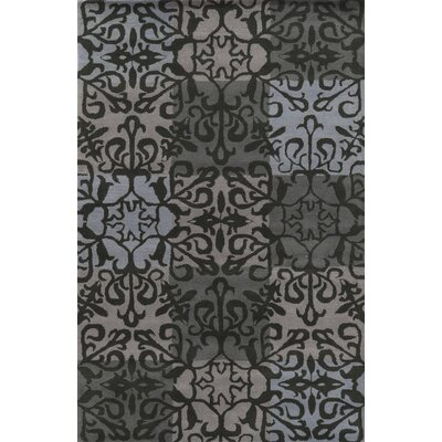 Alexandria Hand-Tufted Charcoal Area Rug Rug Size: Rectangle 5 x 8