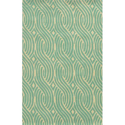 Algeciras Hand-Tufted Green Area Rug Rug Size: Rectangle 9 x 12