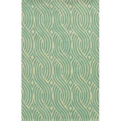 Algeciras Hand-Tufted Green Area Rug Rug Size: Runner 26 x 8