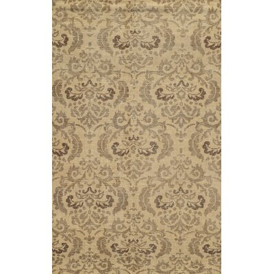 Almeria Hand-Knotted Ivory/Grey Area Rug Rug Size: 5 x 8