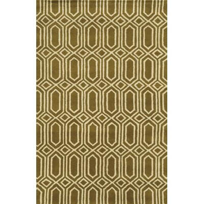 Ashdod Hand-Tufted Dark Tan Area Rug Rug Size: Runner 26 x 8