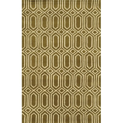 Ashdod Hand-Tufted Dark Tan Area Rug Rug Size: 9 x 12