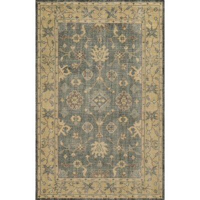 Barcelona Hand-Knotted Charcoal/Beige Area Rug Rug Size: 5 x 8