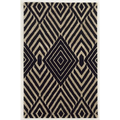 Beirut Hand-Tufted Black/Beige Area Rug Rug Size: Rectangle 5 x 8