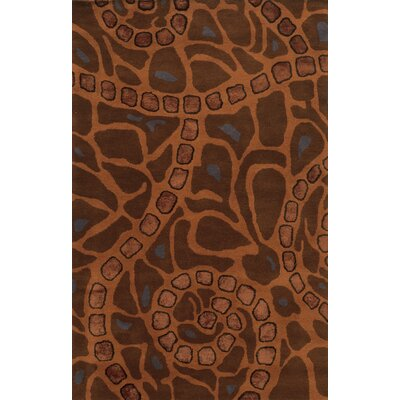Cagliari Hand-Tufted Brown Area Rug Rug Size: 5 x 8