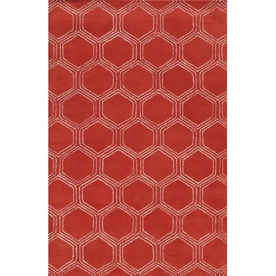 Sardinia Hand-Tufted Red Area Rug Rug Size: 2 x 3