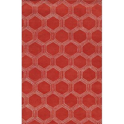 Sardinia Hand-Tufted Red Area Rug Rug Size: 5 x 8