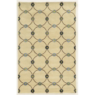 Ceuta Hand-Tufted Ivory Area Rug Rug Size: 3 x 5