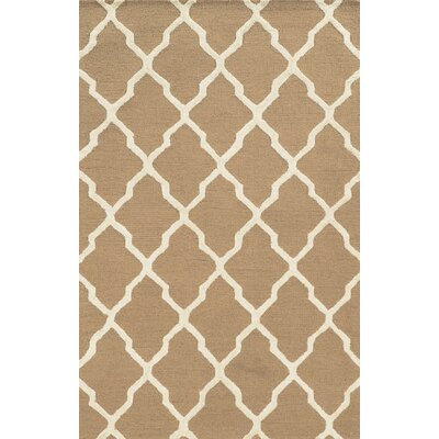 Gioia Hand-Tufted Beige Area Rug Rug Size: Runner 26 x 8