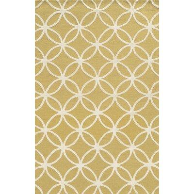 Malta Hand-Tufted Yellow Area Rug Rug Size: 3 x 5