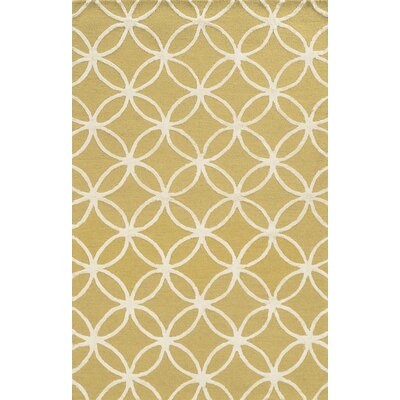 Malta Hand-Tufted Yellow Area Rug Rug Size: 8 x 10