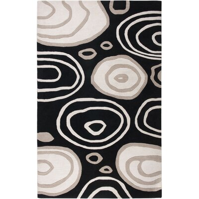 Iskenderun Hand-Tufted Black/White Area Rug Rug Size: Runner 26 x 8