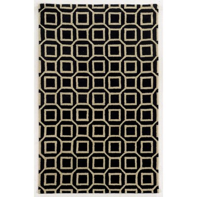 Haifa Hand-Tufted Black/Beige Area Rug Rug Size: Rectangle 3 x 5