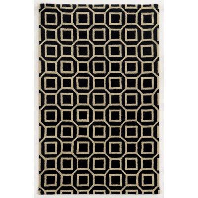 Haifa Hand-Tufted Black/Beige Area Rug Rug Size: Rectangle 9 x 12