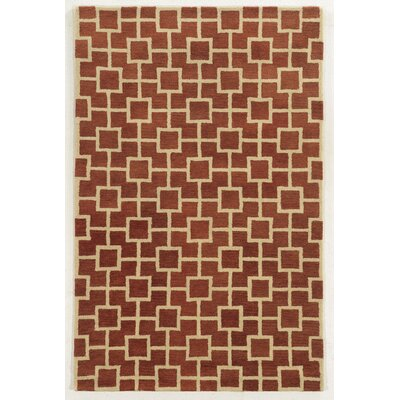 Limassol Hand-Tufted Rust/Ivory Area Rug Rug Size: Rectangle 5 x 8