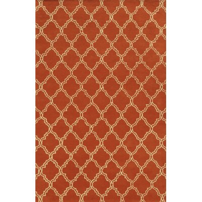 Marmaris Hand-Tufted Orange Area Rug Rug Size: 3 x 5