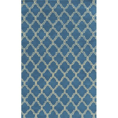 Marseille Hand-Tufted Blue Area Rug Rug Size: Rectangle 5 x 8