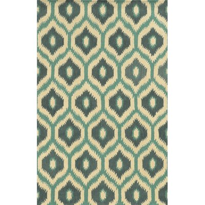 Matruh Hand-Tufted Ivory/Green Area Rug Rug Size: 5 x 8