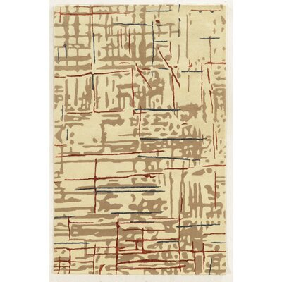Nador Hand-Tufted Beige Area Rug Rug Size: Rectangle 5 x 8