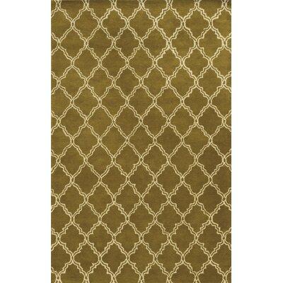 Palma Hand-Tufted Dark Tan Area Rug Rug Size: Runner 26 x 8