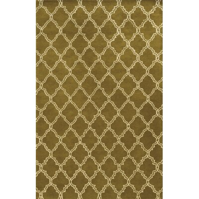 Palma Hand-Tufted Dark Tan Area Rug Rug Size: 5 x 8