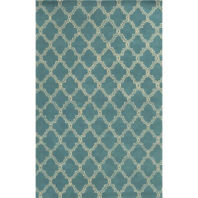 Mallorca Hand-Tufted Sky Blue Area Rug Rug Size: Rectangle 9 x 12