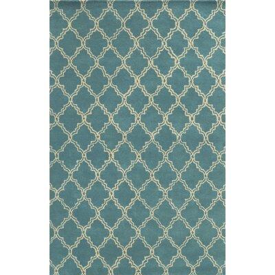 Mallorca Hand-Tufted Sky Blue Area Rug Rug Size: 5 x 8