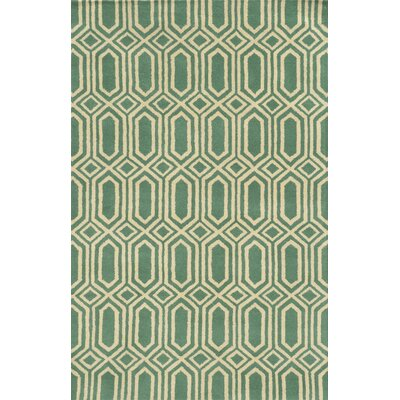 Palermo Hand-Tufted Green Area Rug Rug Size: Runner 26 x 8