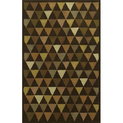 Patras Hand-Tufted Brown Area Rug Rug Size: 5 x 8