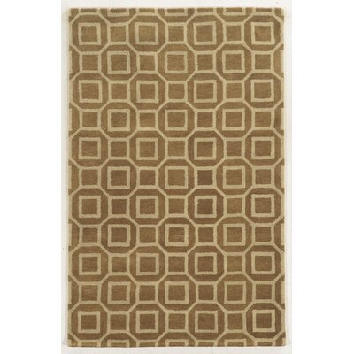Piombino Hand-Tufted Brown/Beige Area Rug Rug Size: Rectangle 5' x 8'