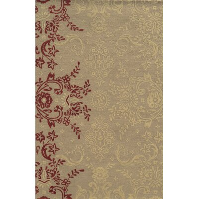 Said Hand-Tufted Light Brown Area Rug Rug Size: Rectangle 2' x 3'