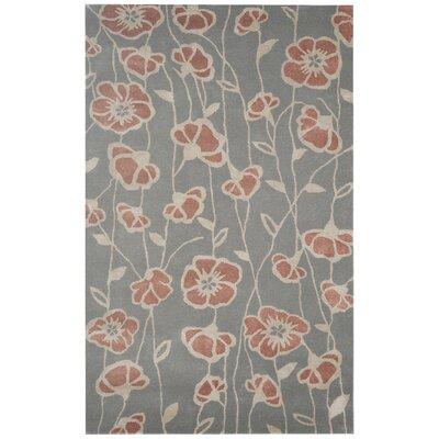Tarragona Hand-Tufted Gray/Rust Area Rug Rug Size: 9 x 12