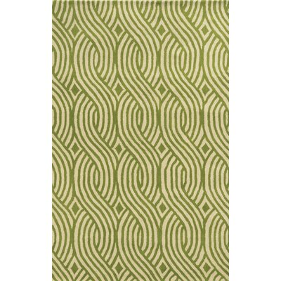 Valencia Hand-Tufted Ivory/Lime Area Rug Rug Size: Rectangle 9 x 12