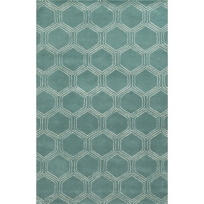 Campeche Hand-Tufted Blue Area Rug Rug Size: 9 x 12