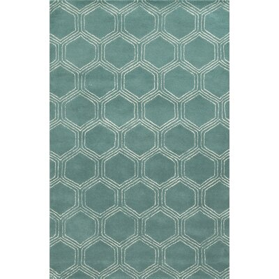 Campeche Hand-Tufted Blue Area Rug Rug Size: 5 x 8