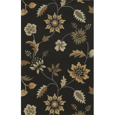 Carmen Hand-Tufted Chocolate Area Rug Rug Size: Rectangle 3 x 5